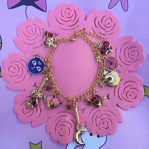 Jewelry - Sailor moon kawaii multiple Luna charm bracelet
